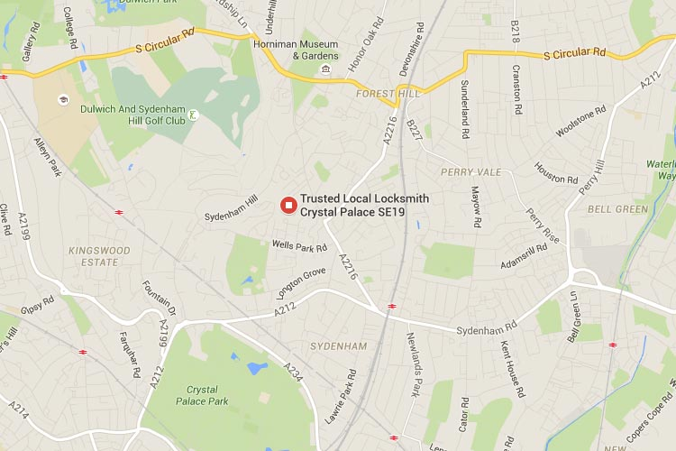 See Crystal Palace Trusted Local Locksmith location on Google maps
